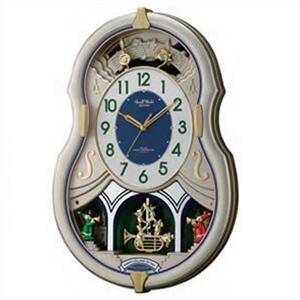 【正規品】リズム時計 クロック CITIZEN シチズン 4MN543RH18 掛時計 電波時計 スモールワールドカラーズ