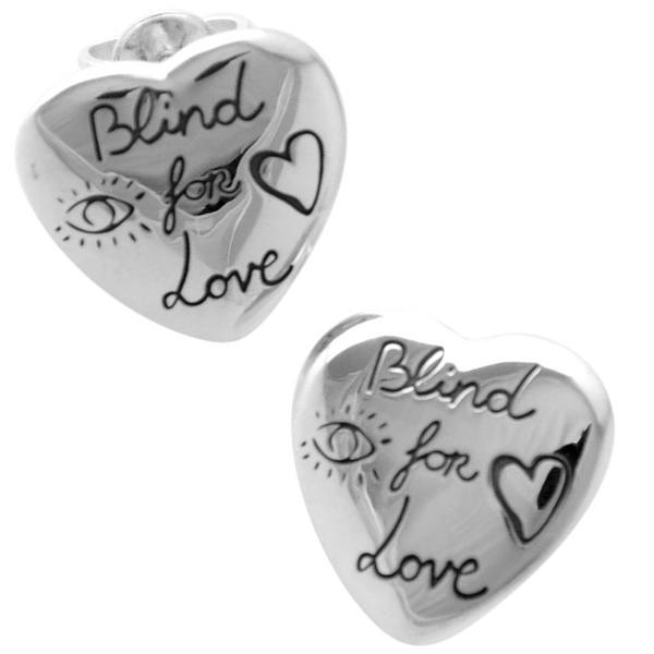【並行輸入品】GUCCI グッチ 455255-J8400-0701 レディース Blind for Love ブラインド フォー ラブ エングレービング スタッド ピアス