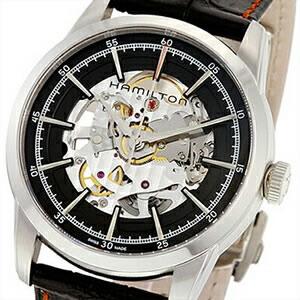 【並行輸入品】ハミルトン HAMILTON 腕時計 H40655731 メンズ Railroad Auto Skelton レイルロード オート スケルトン
