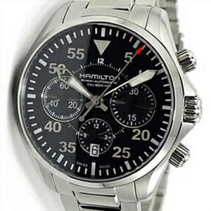 【並行輸入品】HAMILTON ハミルトン 腕時計 H64666135 メンズ Khaki Aviation Pilot Auto Chrono カーキ アビエーション パイロット オート クロノ
