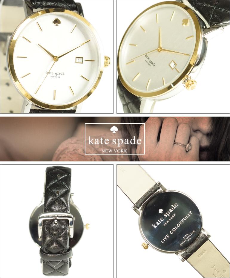 【レビュー記入確認後1年保証】ケイトスペード 腕時計 KATE SPADE 時計 並行輸入品 1YRU0125 レディース Metro Grand メトロ グランド