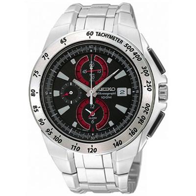 【並行輸入品】海外セイコー 海外SEIKO 腕時計 SNAB07P1 メンズ アラーム クロノグラフ