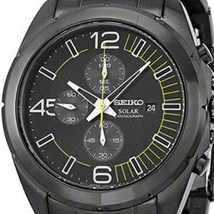 【並行輸入品】海外セイコー 海外SEIKO 腕時計 SSC217P1 メンズ ブラック イエロー ソーラー