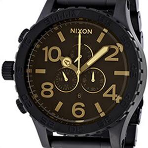 【並行輸入品】ニクソン NIXON 腕時計 A083 1354 メンズ 51-30 CHRONO 51-30 クロノ MATTE BLK/ORANGE TINT マットブラック/オレンジティント