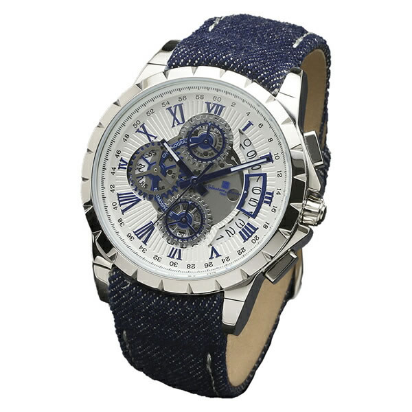 【正規品】SALVATORE MARRA サルバトーレ・マーラ 腕時計 SM13119D-SSWHBL/BL メンズ クロノグラフ