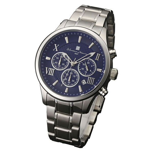 【正規品】SALVATORE MARRA サルバトーレ・マーラ 腕時計 SM15102-SSBL メンズ クロノグラフ