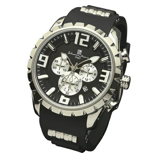 【正規品】SALVATORE MARRA サルバトーレ・マーラ 腕時計 SM15107-SSBK メンズ クロノグラフ