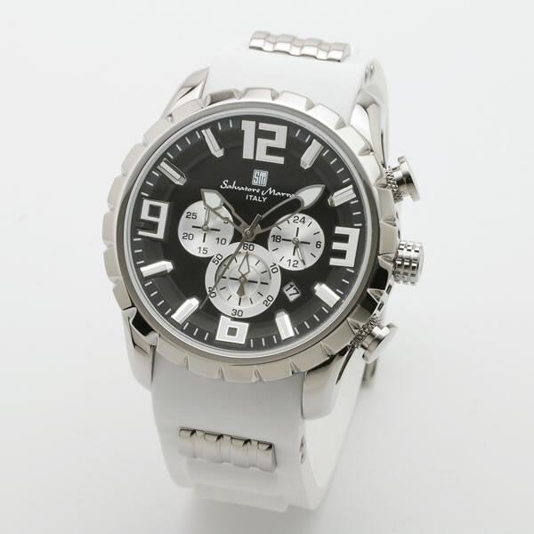 【正規品】SALVATORE MARRA サルバトーレ・マーラ 腕時計 SM15107-SSBK/WH メンズ クロノグラフ