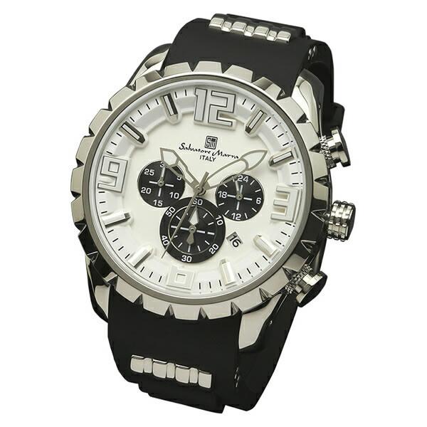 【正規品】SALVATORE MARRA サルバトーレ・マーラ 腕時計 SM15107-SSWH メンズ クロノグラフ