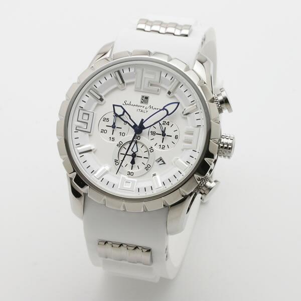 【正規品】SALVATORE MARRA サルバトーレ・マーラ 腕時計 SM15107-SSWH/WH メンズ クロノグラフ