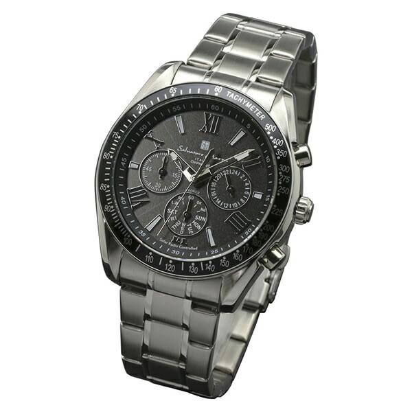 【正規品】SALVATORE MARRA サルバトーレ・マーラ 腕時計 SM15116-SSBKSV メンズ クロノグラフ 電波ソーラー