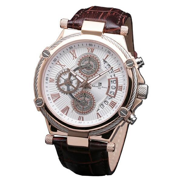 【正規品】SALVATORE MARRA サルバトーレ・マーラ 腕時計 SM18102-PGWH メンズ クロノグラフ
