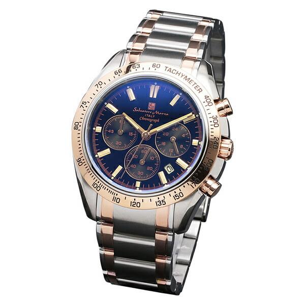 【正規品】SALVATORE MARRA サルバトーレ・マーラ 腕時計 SM18106-SSBKPG メンズ クロノグラフ 偏光ガラス