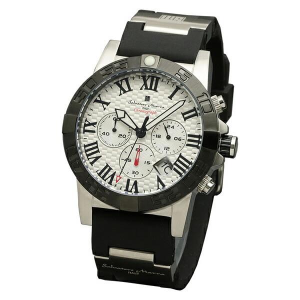 【正規品】SALVATORE MARRA サルバトーレ・マーラ 腕時計 SM18118-SSWH メンズ クロノグラフ