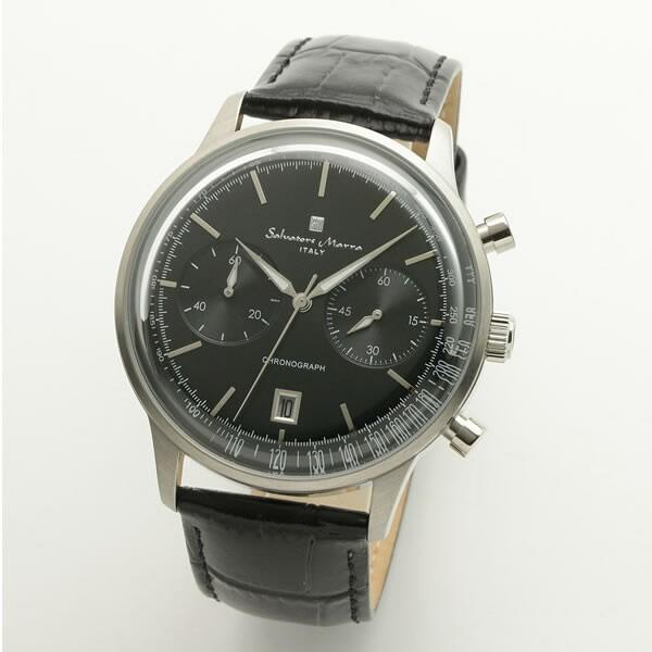 【正規品】SALVATORE MARRA サルバトーレ・マーラ 腕時計 SM19106-SSBK メンズ クロノグラフ