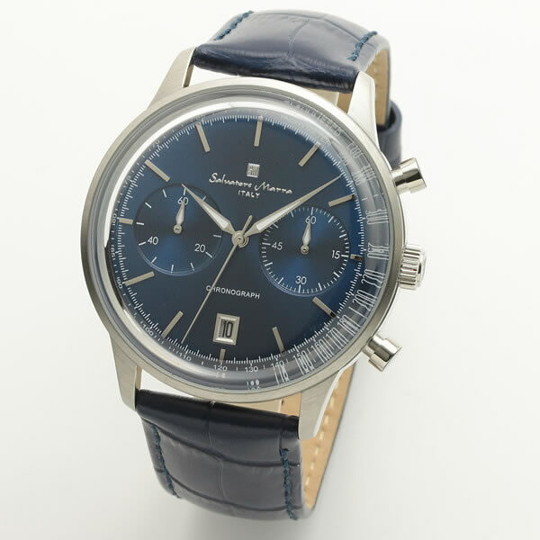 【正規品】SALVATORE MARRA サルバトーレ・マーラ 腕時計 SM19106-SSBL メンズ クロノグラフ