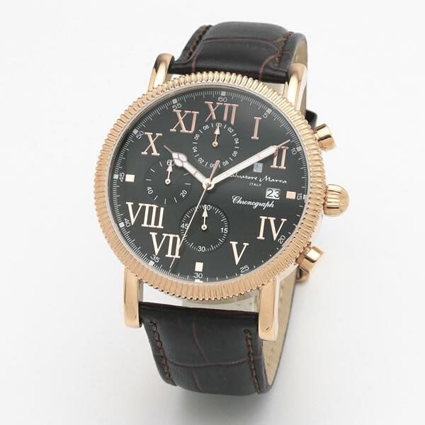 【正規品】SALVATORE MARRA サルバトーレ・マーラ 腕時計 SM19109-PGBK1 メンズ クロノグラフ