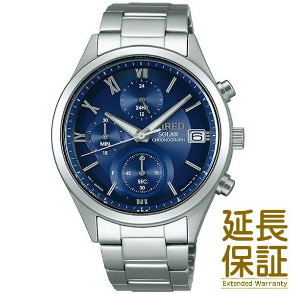 【国内正規品】WIRED ワイアード 腕時計 SEIKO セイコー AGAD096 メンズ PAIR STYLE ペアウオッチ クロノグラフ ソーラー (レディースはAGED103)