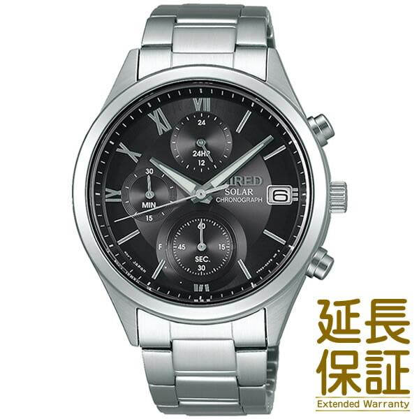 【国内正規品】WIRED ワイアード 腕時計 SEIKO セイコー AGAD098 メンズ PAIR STYLE ペアウオッチ クロノグラフ ソーラー (レディースはAGED105)