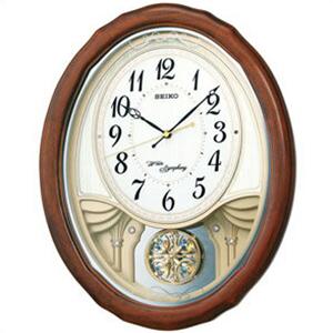 【正規品】SEIKO セイコー クロック AM257B 電波掛け時計 振り子時計 スワロフスキー