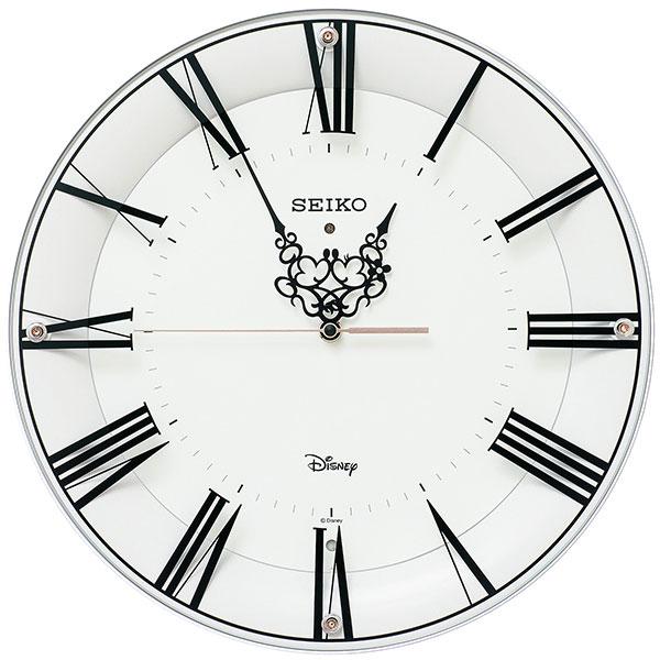 【正規品】SEIKO セイコー クロック FS506W 電波時計 掛時計 大人ディズニー Disney ミッキーマウス ミニーマウス