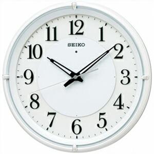 【正規品】SEIKO セイコー クロック KX233W 電波 掛時計 夜でも見える