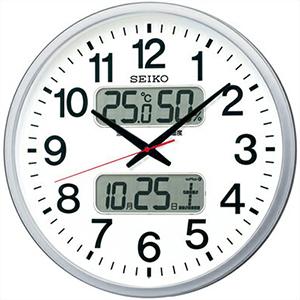 【正規品】SEIKO セイコー クロック KX237S 掛時計 電波 デジアナ