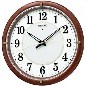 【正規品】SEIKO セイコー クロック KX240B 電波掛時計 自動点灯 ファインライトNEO 夜でも見える