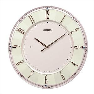 【正規品】SEIKO セイコー クロック KX504P 電波掛時計 スワロフスキー スタンダード