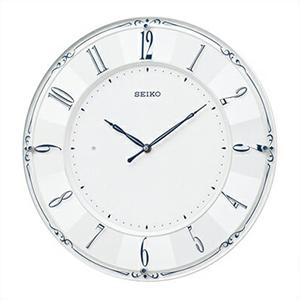 【正規品】SEIKO セイコー クロック KX504W 電波掛時計 スワロフスキー スタンダード
