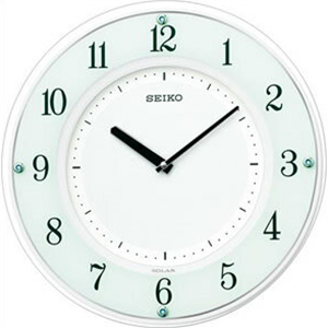 SEIKO セイコークロック SF505W掛時計 薄型モデル ソーラー電波クロック 4517228029035