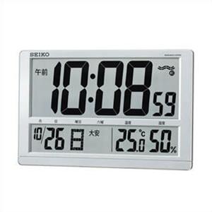 SEIKO セイコー クロック SQ433S 掛置兼用 電波時計 温度計 湿度計