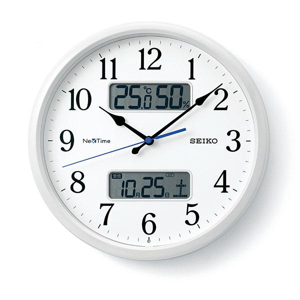 【正規品】SEIKO セイコー クロック ZS251W 電波時計 掛時計 ネクスタイム