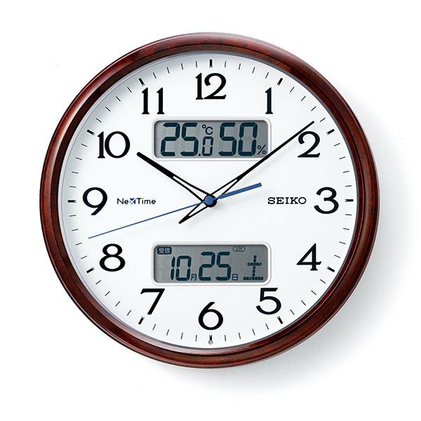 【正規品】SEIKO セイコー クロック ZS252B 電波時計 掛時計 ネクスタイム