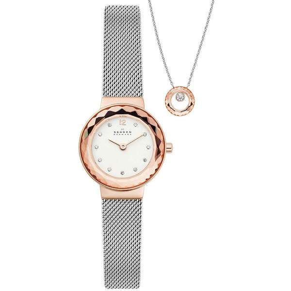 【並行輸入品】SKAGEN スカーゲン 腕時計 SKW1112 レディース LEONORA レオノラ ネックレスセット クオーツ