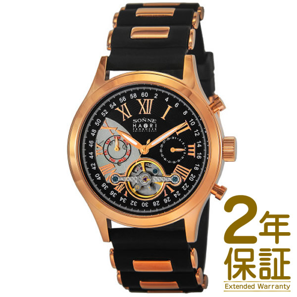 【国内正規品】SONNE ゾンネ 腕時計 H016PG-BK メンズ SONNE×HAORI Produced KOICHI IWAKI ゾンネ×ハオリ 岩城滉一 コラボモデル 自動巻き