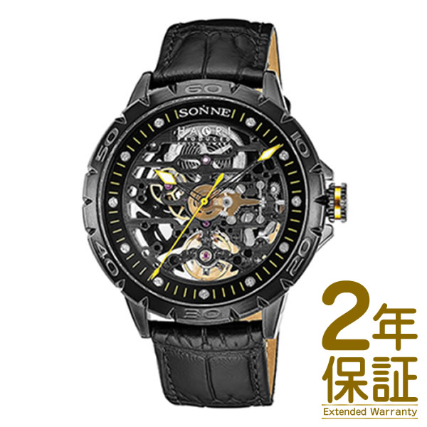 【国内正規品】SONNE ゾンネ 腕時計 H023BK-BK メンズ SONNE×HAORI Produced KOICHI IWAKI ゾンネ×ハオリ 岩城滉一 コラボモデル 自動巻き