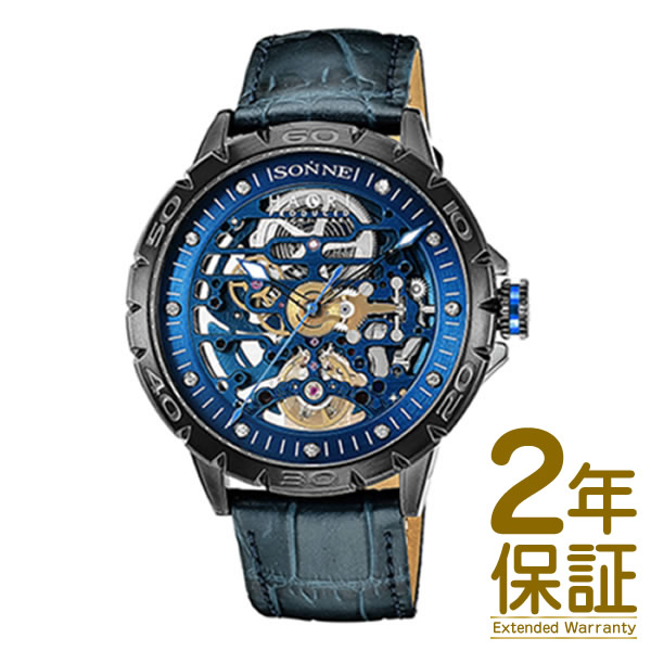 【国内正規品】SONNE ゾンネ 腕時計 H023BK-NV メンズ SONNE×HAORI Produced KOICHI IWAKI ゾンネ×ハオリ 岩城滉一 コラボモデル 自動巻き