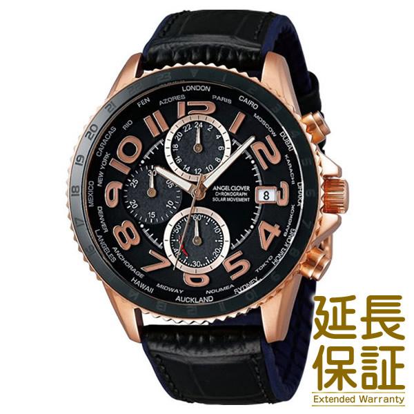 Angel Clover エンジェル クローバー 腕時計 MOS44PBK-BK メンズ MONDO SOLAR モンドソーラー クロノグラフ