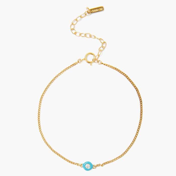 【送料無料】CHAN LUU チャンルー 公式通販ショップ オフィシャルオンラインストア プレゼント 人気 女性 ターコイズエナメル ダイヤモンド ブレスレット