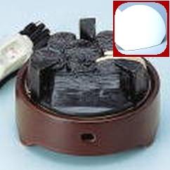 【茶道具セット】 ヤマキ 遠赤外線 電気炭 風炉用500W 裏千家タイプ+まえかわらけ 【YU-001-C + YU-101】 前瓦つき*電熱*炭形ヒーター