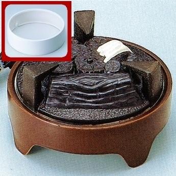 【茶道具セット】 ヤマキ 遠赤外線 電気炭 炉用600W+灰止め 【YU-021-C,022-C + YU-103】 電熱*炭形ヒーター