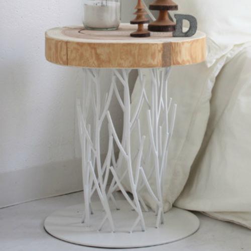 椅子 フラスカ スツール Frasca stool EL7001WH ホワイト イス チェア チェアー テーブル サイドテーブル 木 木製 天然目 ナチュラル インテリア リビング おしゃれ かわいい モダン カフェ 北欧 丸太 木材 ウッド 家具 母の日 花 入学