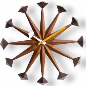 時計 GEORGE NELSON ジョージネルソン ポリゴンクロック ウォールナットブラウン  ジョージ・ネルソン サンバースト 家具 デザイナーズ 太陽 壁 掛け おしゃれ かわいい ウッド カラフル 北欧 夏 お中元 暑中見舞い
