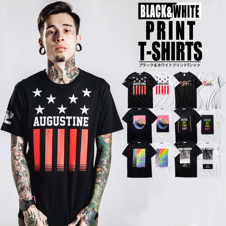 724334efb096 It is spring and summer in all six types of short-sleeved T-shirt prints 12  pattern T-shirt men short sleeves U neck black and white black white crew  neck ...