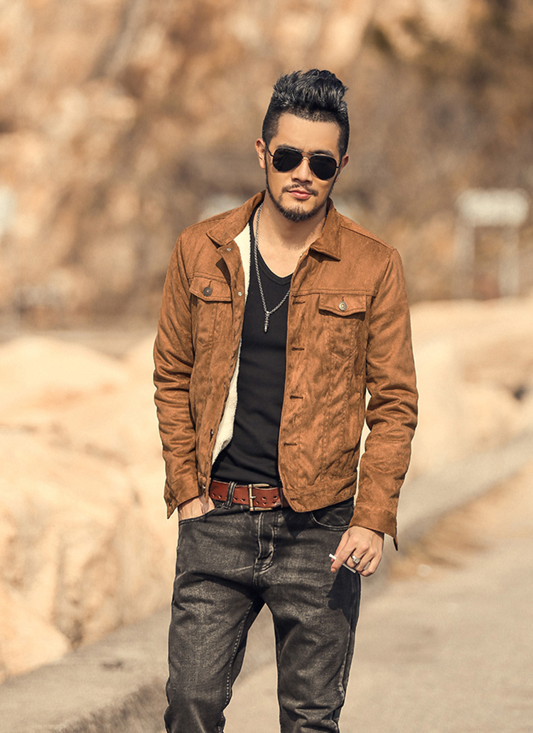 Suede Jacket Outfits For Men 20 Ways To Wear A Suede Jacket: Chao-r: Winter Men Fashion In Leatherette Jacket Men G