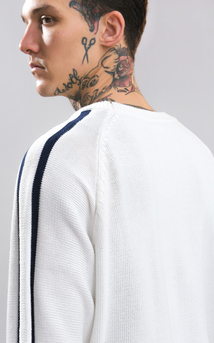 Chao R Knit Sweater Men Side Line Cable Knit Cable Knitting Was The