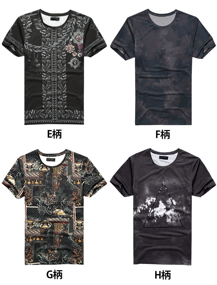 c6dca6a1 chao-r: The men's T-shirt floral design ボタニカルトロピカル pattern ...