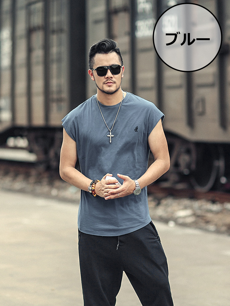 34704cf9e25 Sleeveless T-shirt fashion men print short sleeves padded vest big  silhouette over size American casual U neck pattern white inner tops casual  clothes ...
