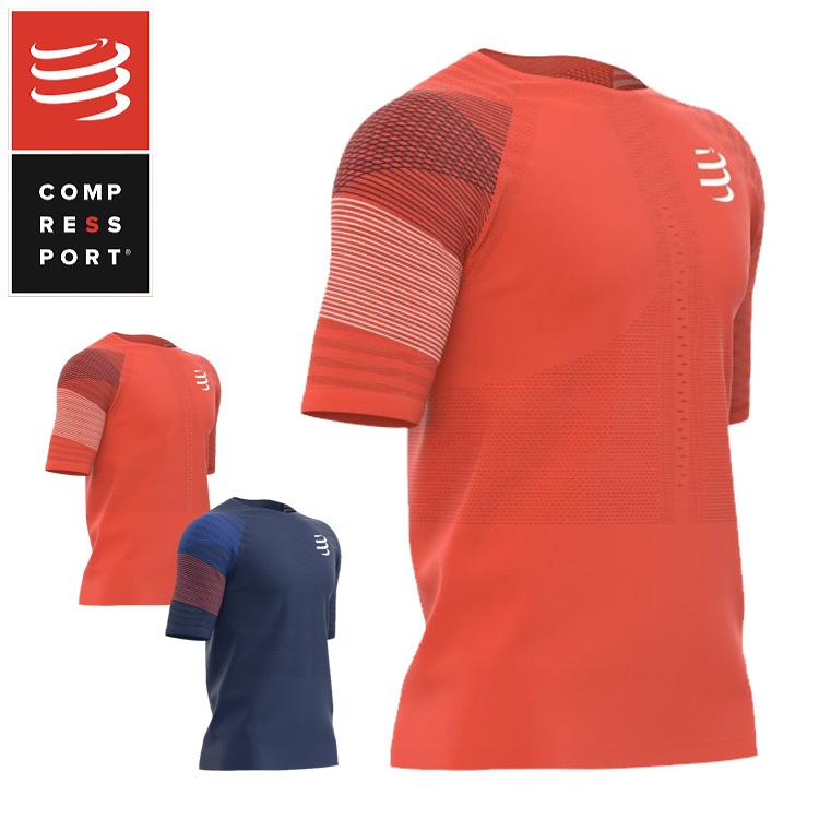 COMPRESSPORT コンプレスポーツ TSRUNR-SS レーシング SS Tシャツ コンプレッション 加圧 ラン ランニング トライアスロン triathlon トライアスロン ウェア